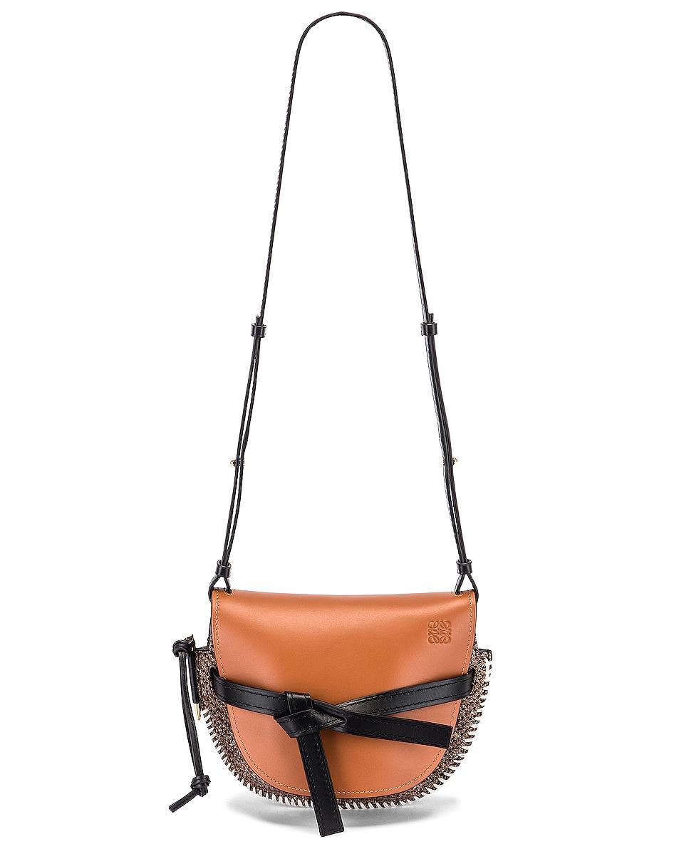 Image 6 of Loewe Gate Tweed Small Bag in Tan