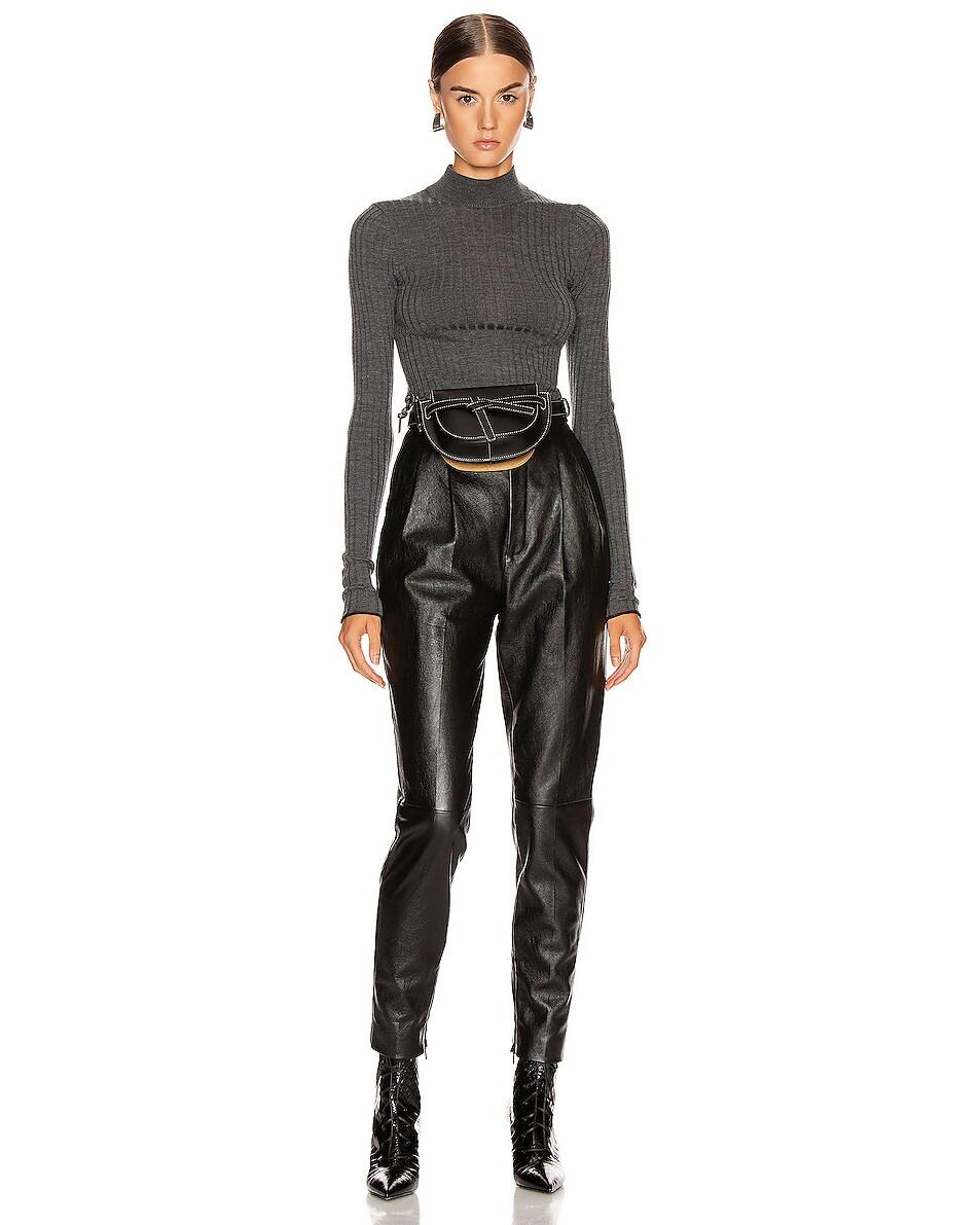 Image 2 of Loewe Mini Gate Bum Bag in Black