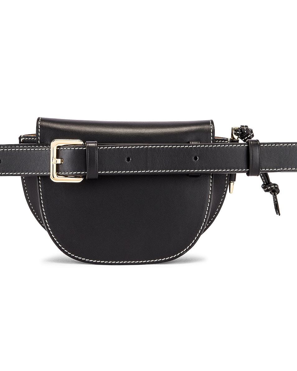 Image 3 of Loewe Mini Gate Bum Bag in Black