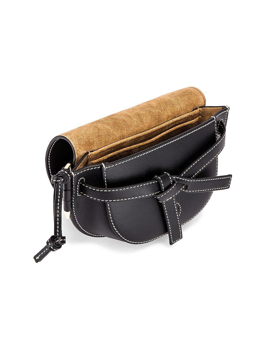 Image 5 of Loewe Mini Gate Bum Bag in Black