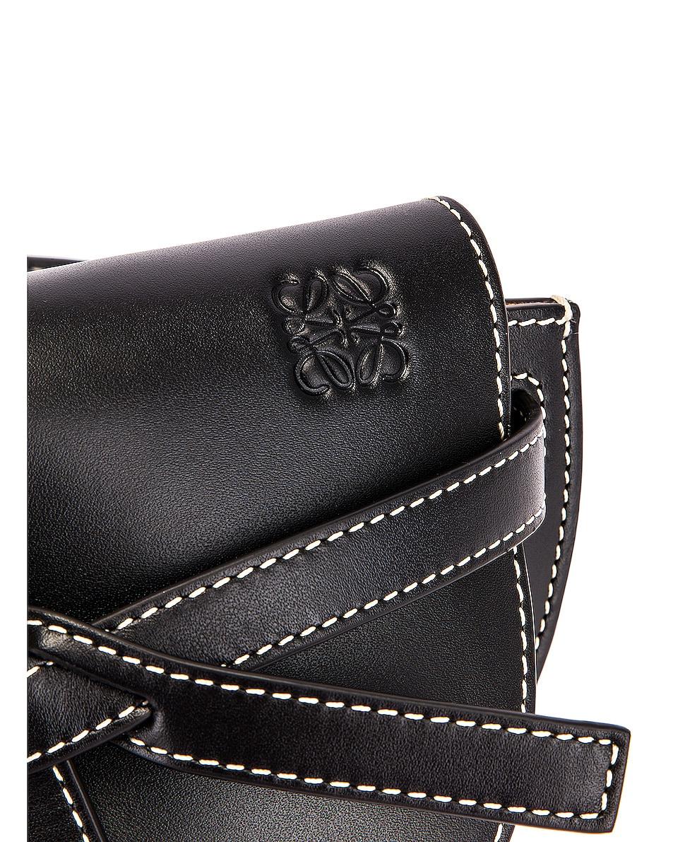 Image 7 of Loewe Mini Gate Bum Bag in Black