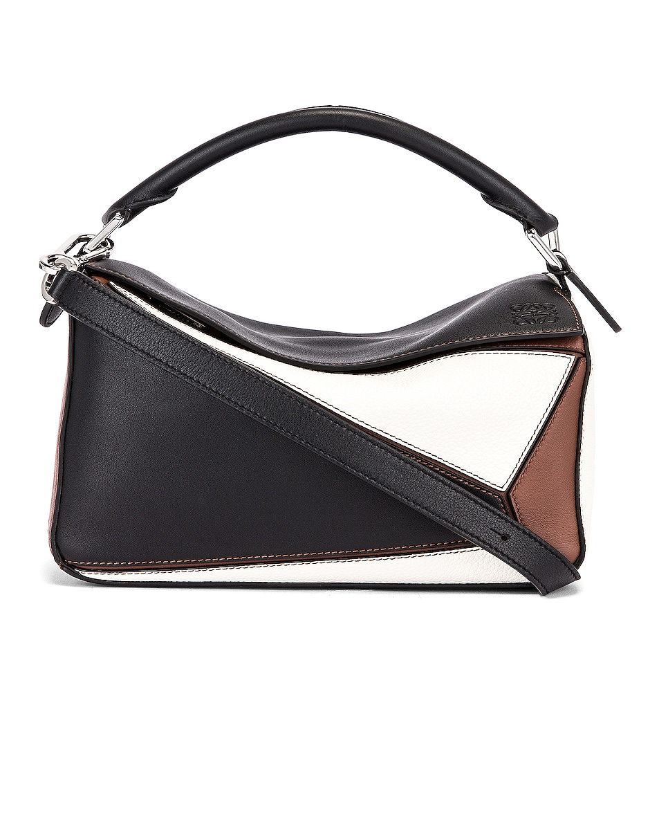 Image 1 of Loewe Puzzle Small Bag in Black & Brunette