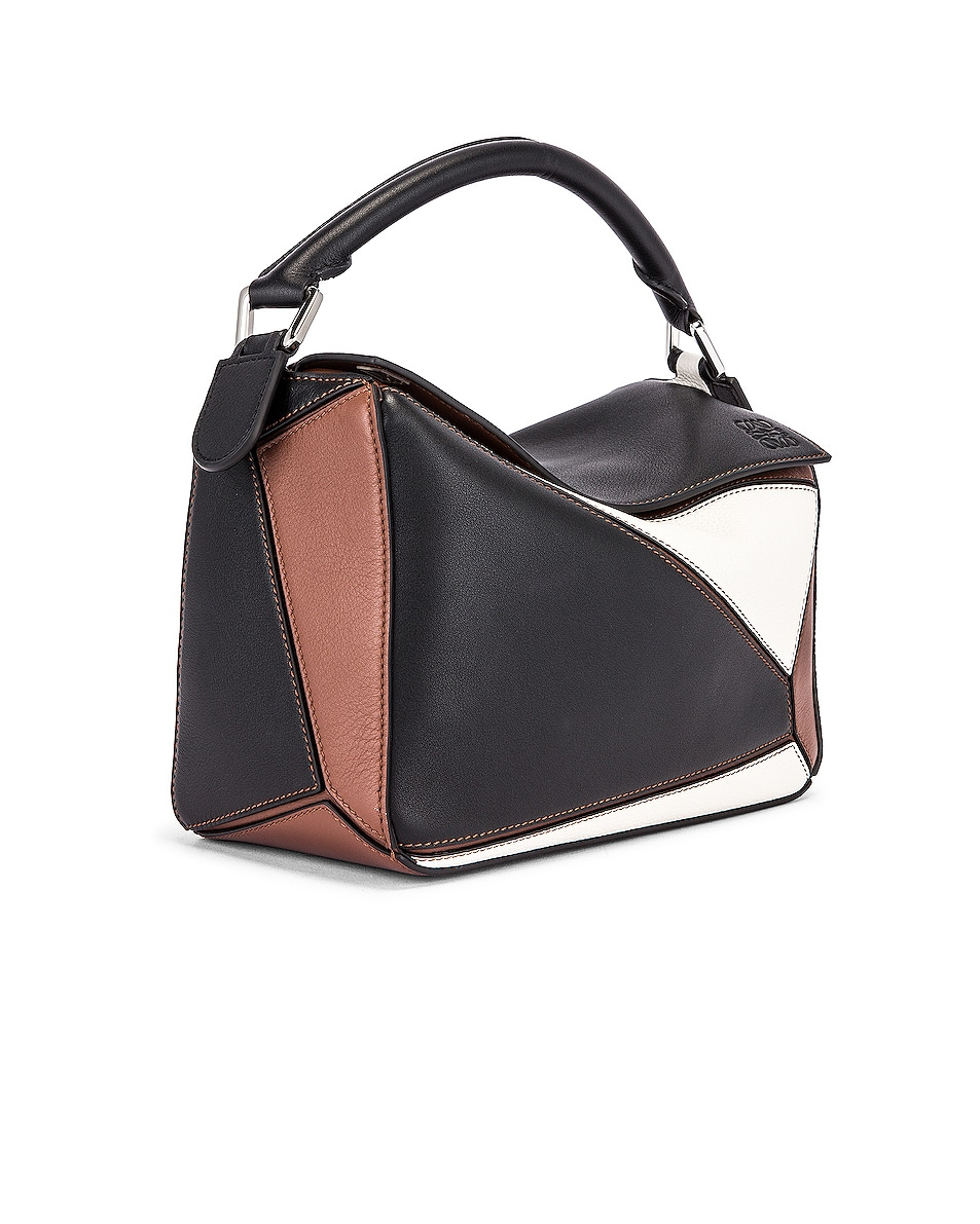 Image 4 of Loewe Puzzle Small Bag in Black & Brunette