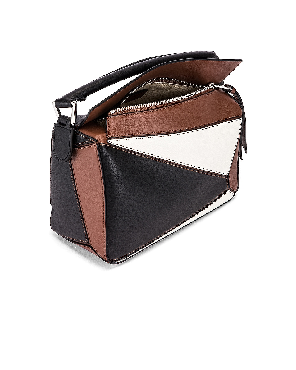 Image 5 of Loewe Puzzle Small Bag in Black & Brunette