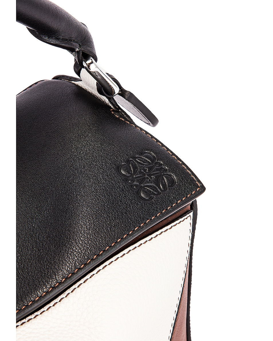 Image 8 of Loewe Puzzle Small Bag in Black & Brunette
