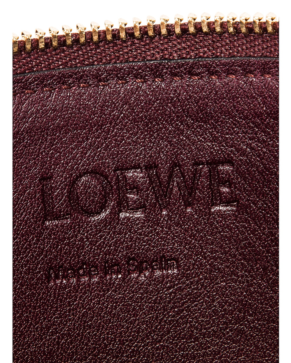 Image 7 of Loewe Double Zip Gate Pouch in Wine & Pastel Pink