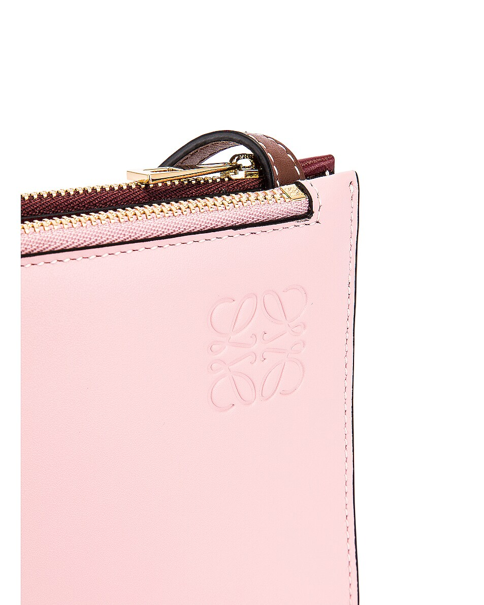 Image 8 of Loewe Double Zip Gate Pouch in Wine & Pastel Pink