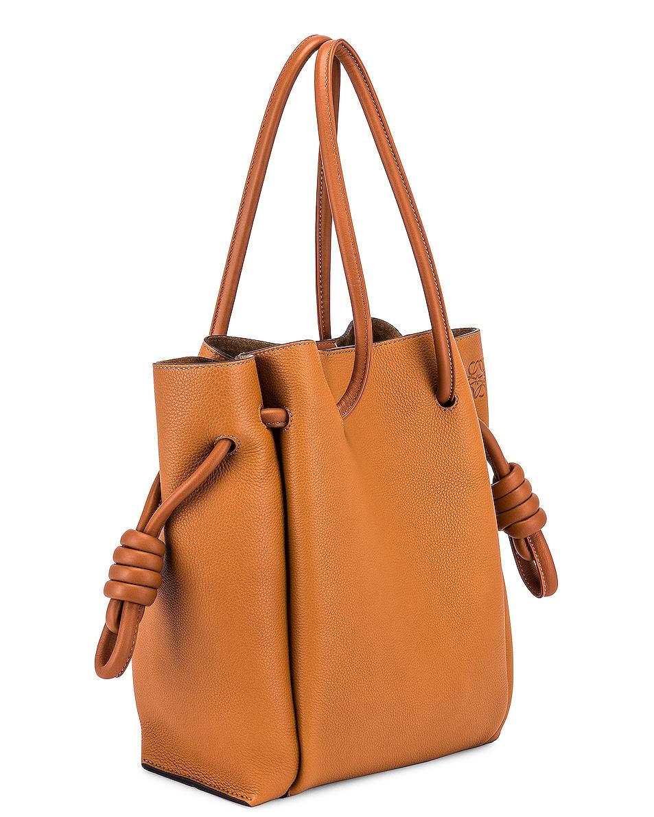 Image 4 of Loewe Flamenco Knot Tote Small Bag in Light Caramel & Tan