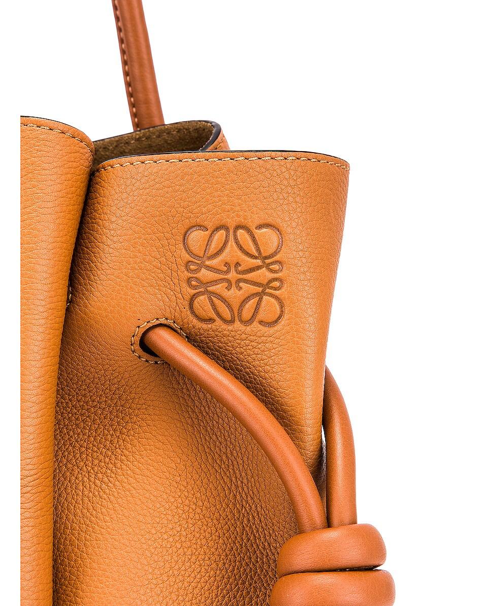 Image 7 of Loewe Flamenco Knot Tote Small Bag in Light Caramel & Tan