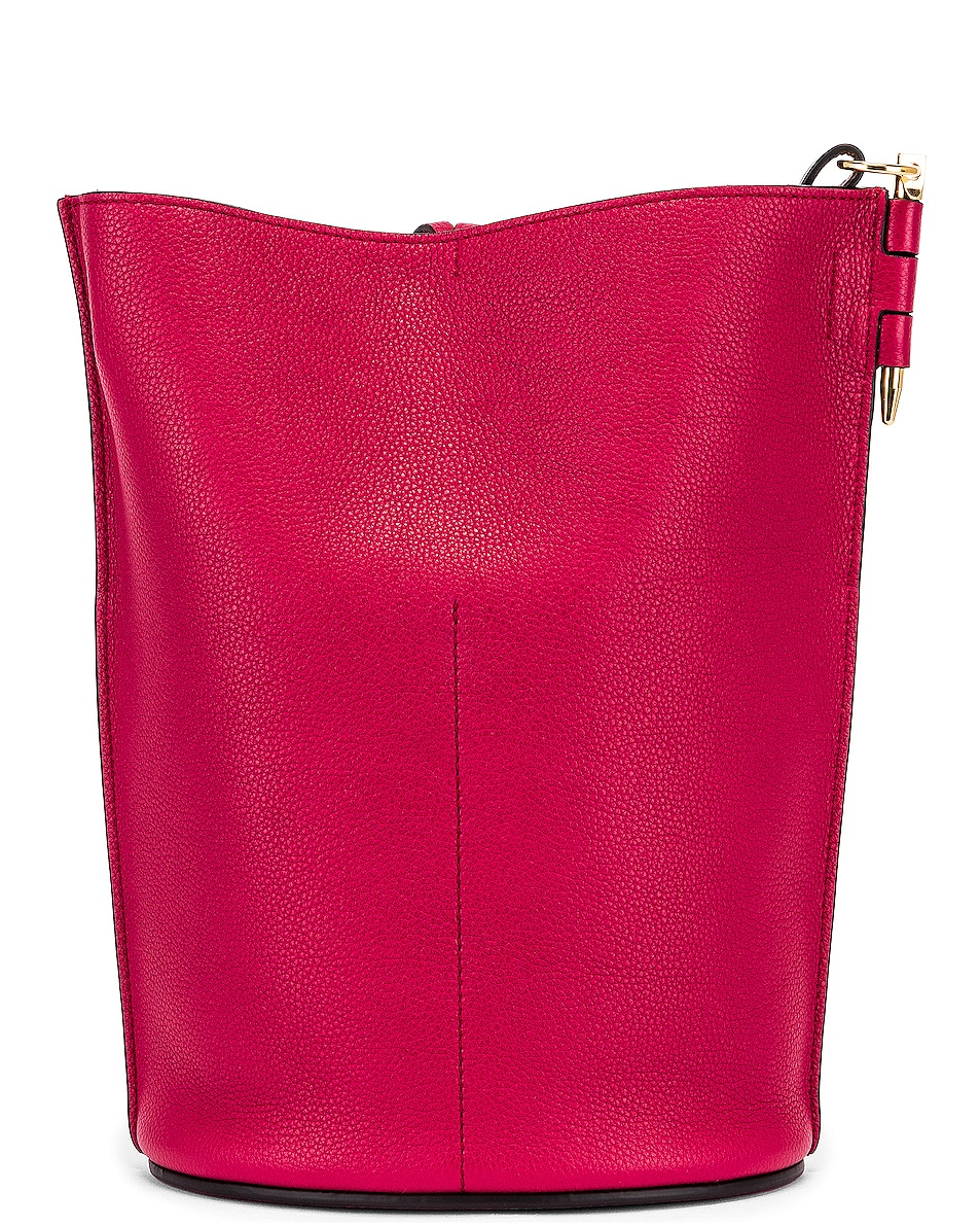 Image 2 of Loewe Gate Bucket Bag in Raspberry & Wine