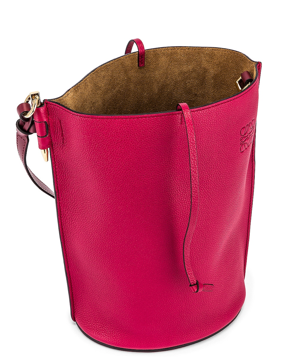 Image 4 of Loewe Gate Bucket Bag in Raspberry & Wine