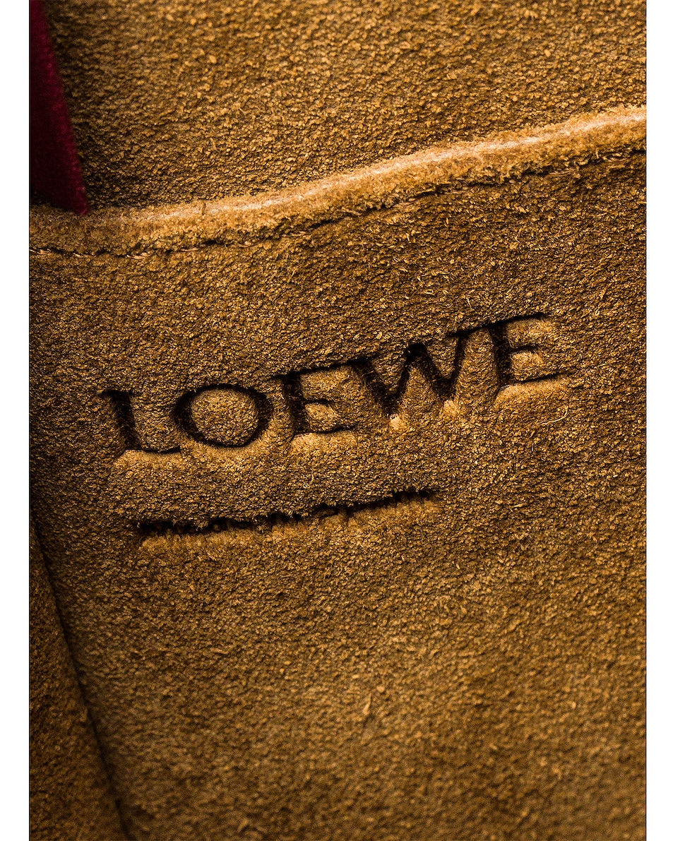 Image 6 of Loewe Gate Bucket Bag in Raspberry & Wine