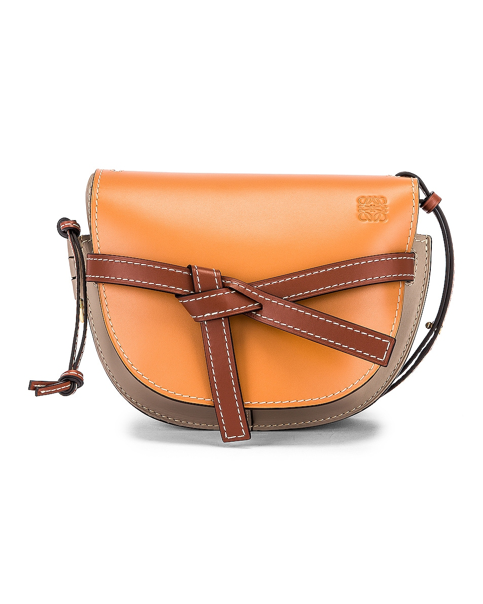 Image 1 of Loewe Gate Small Bag in Amber Light & Grey Rust