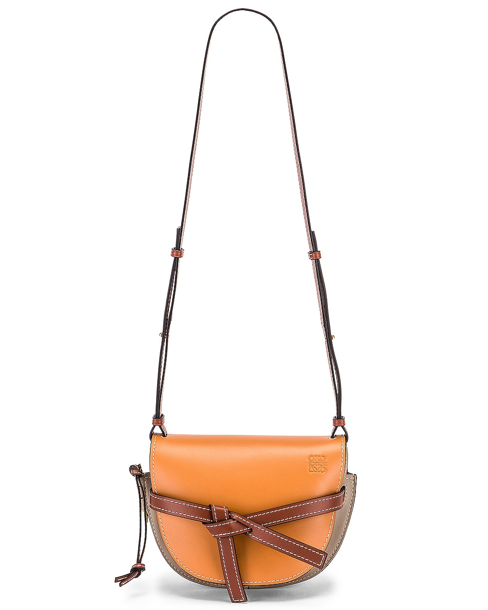 Image 6 of Loewe Gate Small Bag in Amber Light & Grey Rust