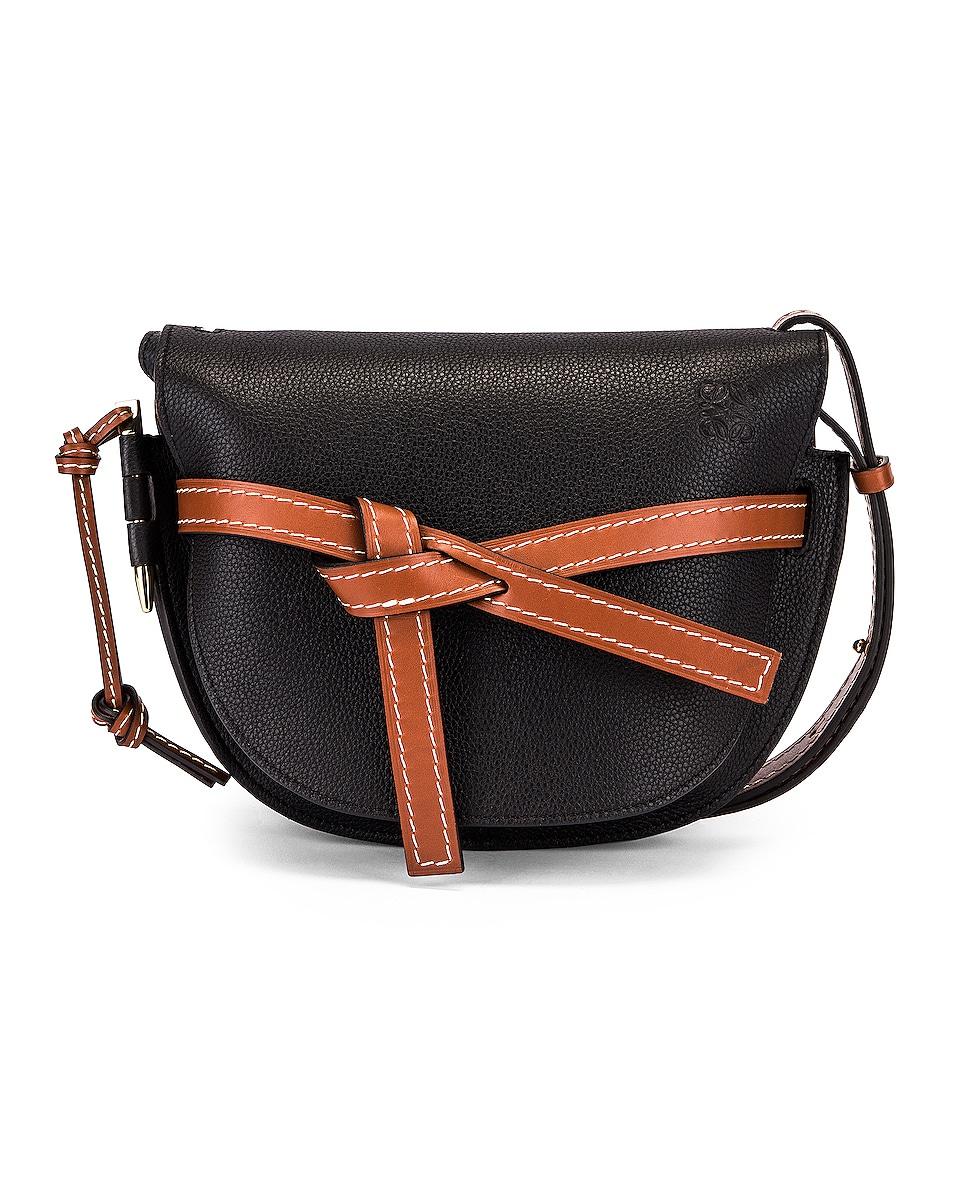 Image 1 of Loewe Gate Small Bag in Black & Pecan