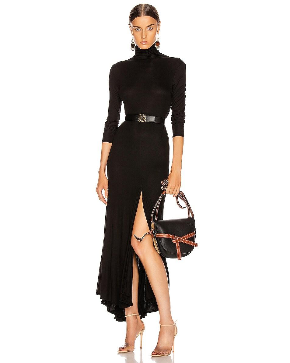 Image 2 of Loewe Gate Small Bag in Black & Pecan
