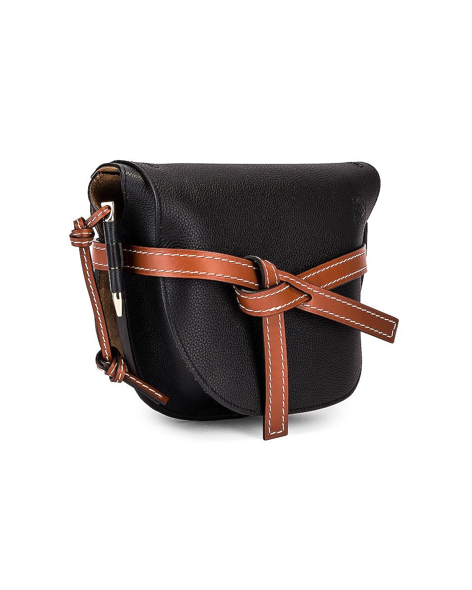 Image 4 of Loewe Gate Small Bag in Black & Pecan
