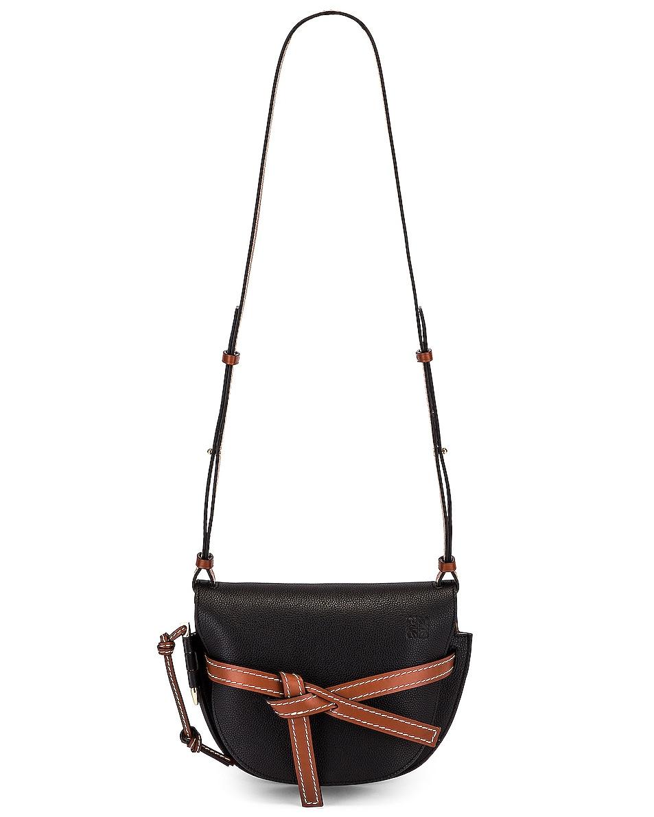 Image 6 of Loewe Gate Small Bag in Black & Pecan
