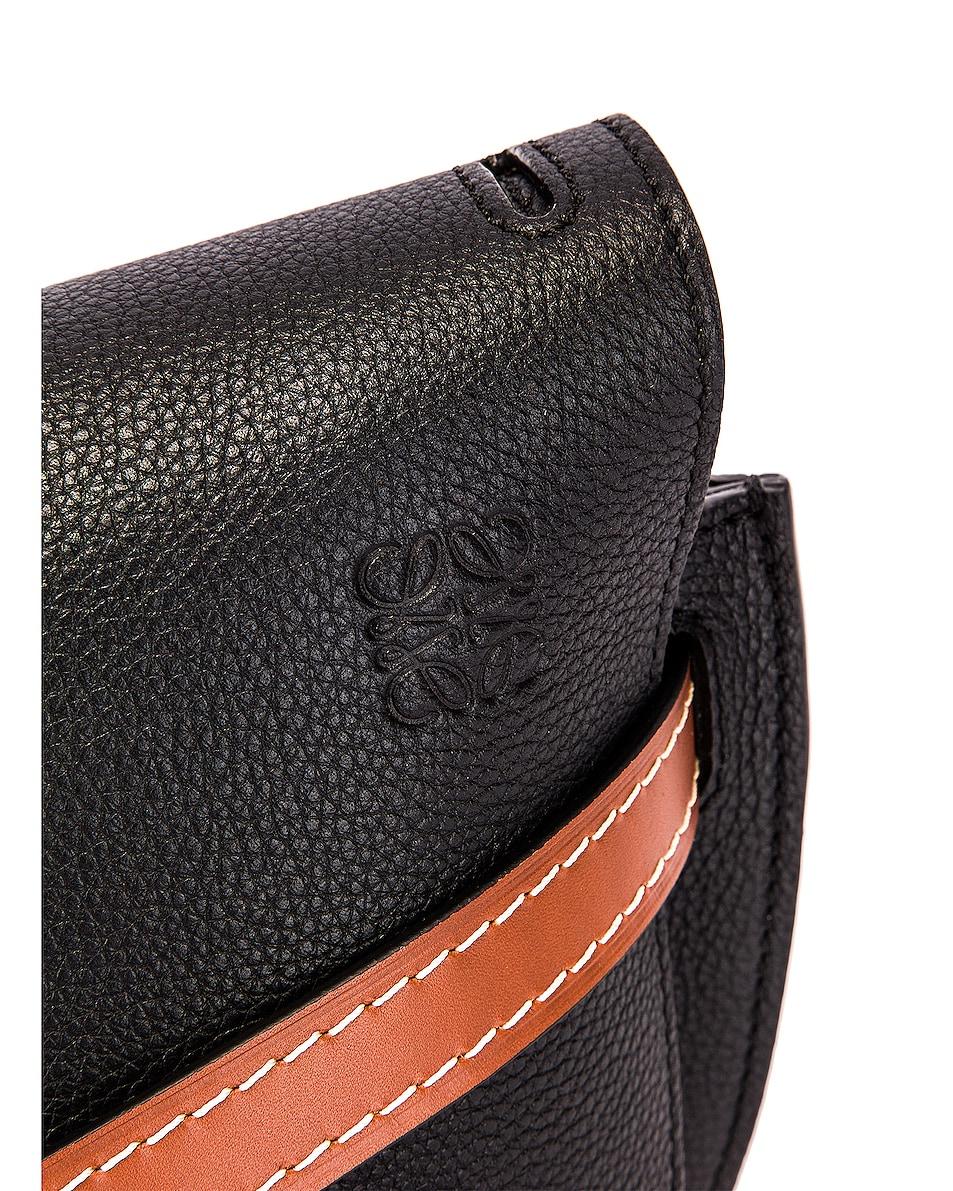 Image 8 of Loewe Gate Small Bag in Black & Pecan