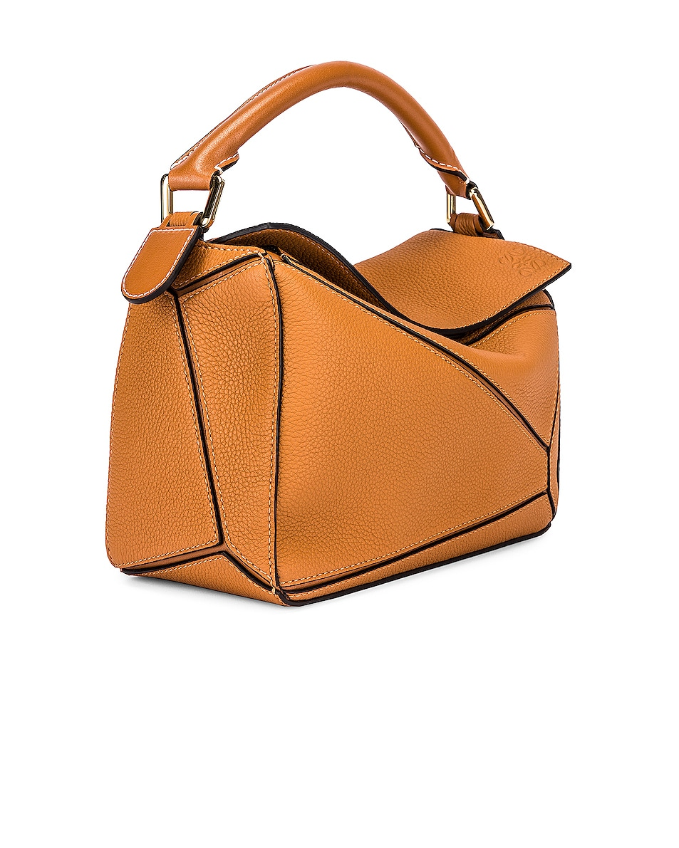 Image 4 of Loewe Puzzle Small Bag in Light Caramel