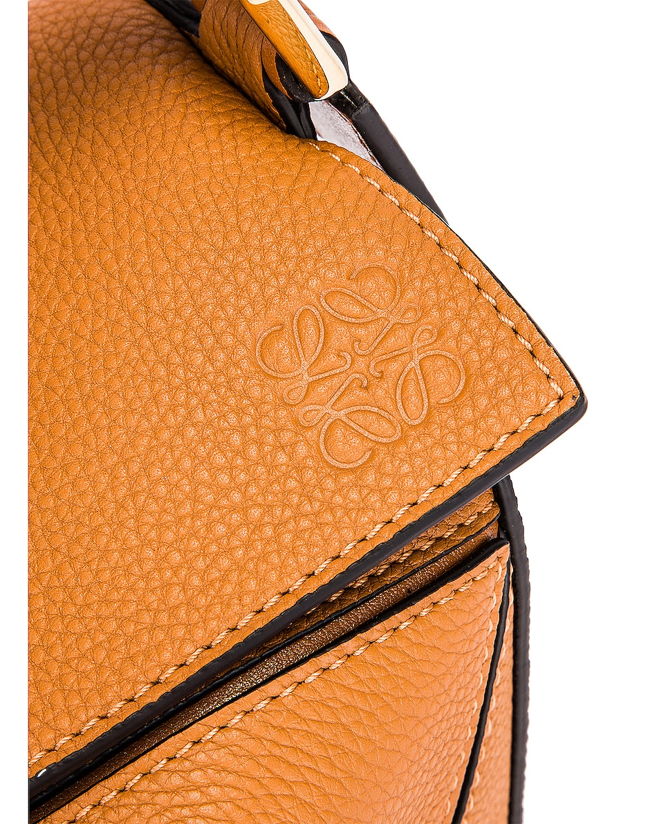 Image 8 of Loewe Puzzle Small Bag in Light Caramel