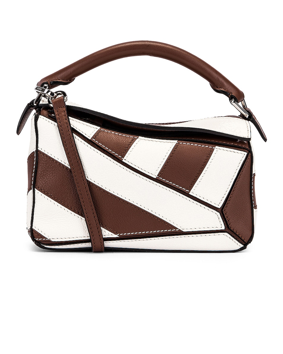 Image 1 of Loewe Puzzle Mini Rugby Bag in Brunette & Soft White