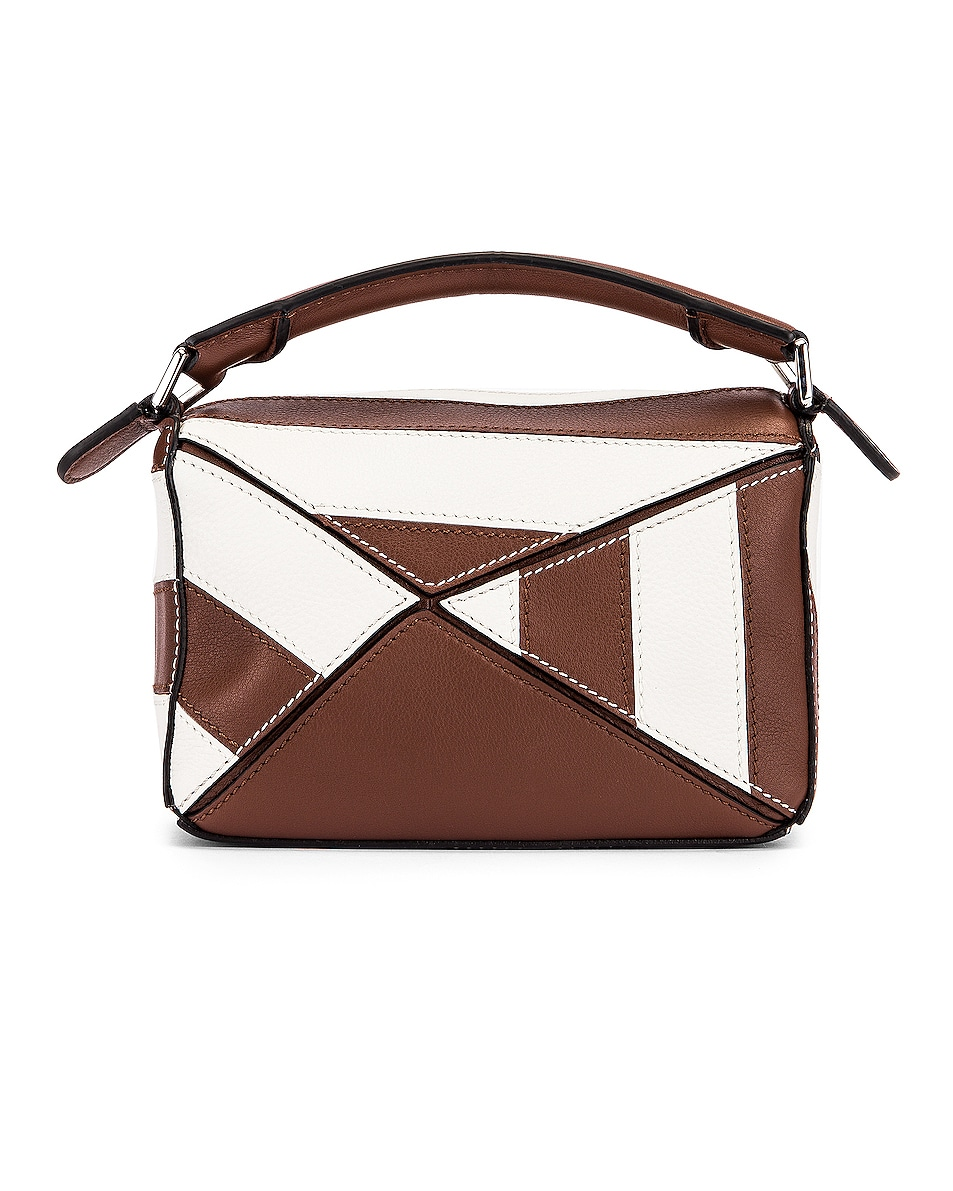 Image 3 of Loewe Puzzle Mini Rugby Bag in Brunette & Soft White