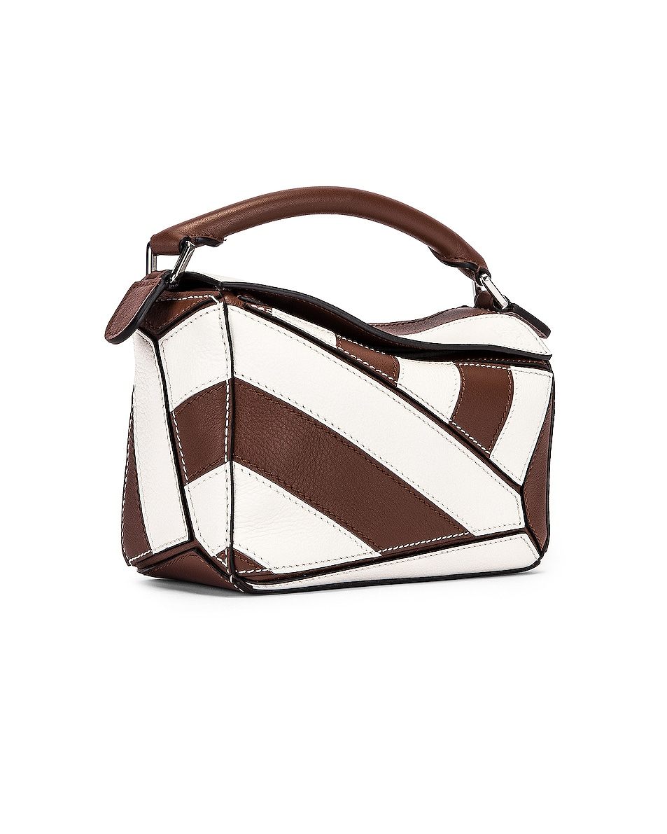 Image 4 of Loewe Puzzle Mini Rugby Bag in Brunette & Soft White