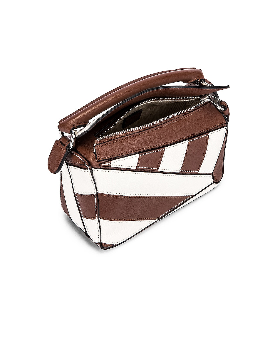 Image 5 of Loewe Puzzle Mini Rugby Bag in Brunette & Soft White