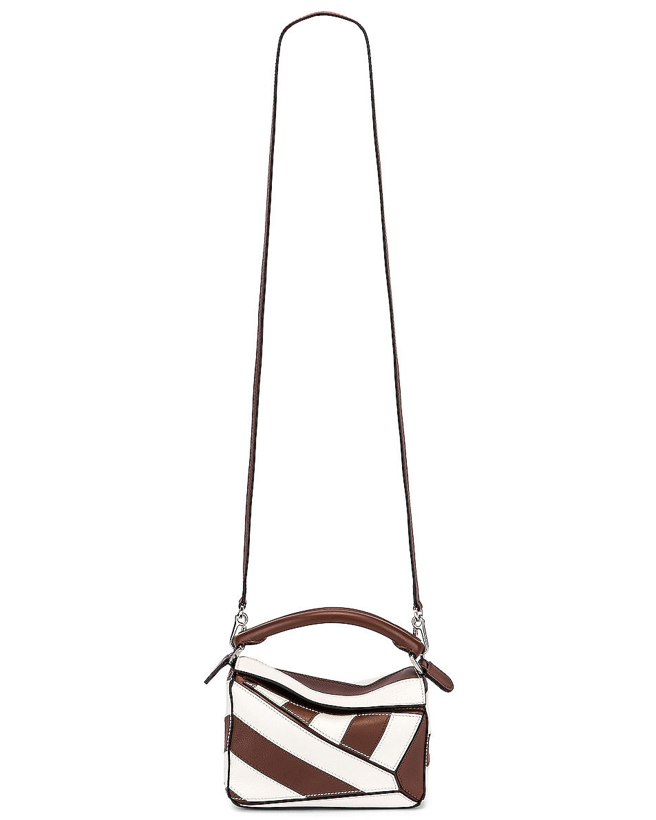 Image 6 of Loewe Puzzle Mini Rugby Bag in Brunette & Soft White