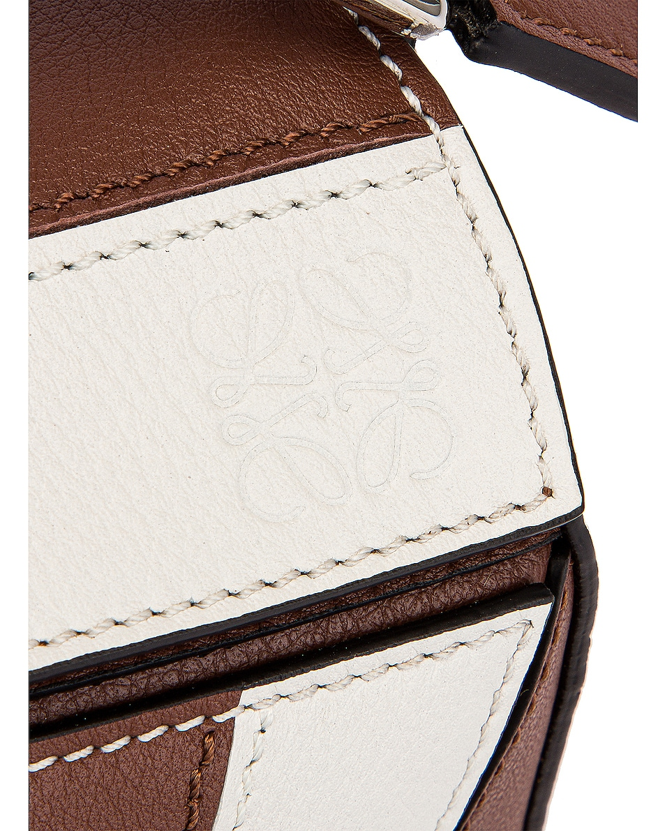 Image 8 of Loewe Puzzle Mini Rugby Bag in Brunette & Soft White