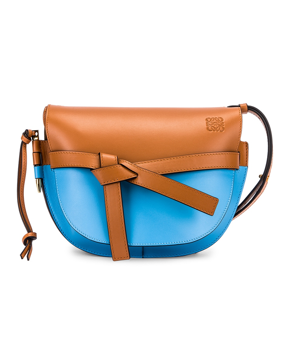 Image 1 of Loewe Gate Small Bag in Tan & Sky Blue
