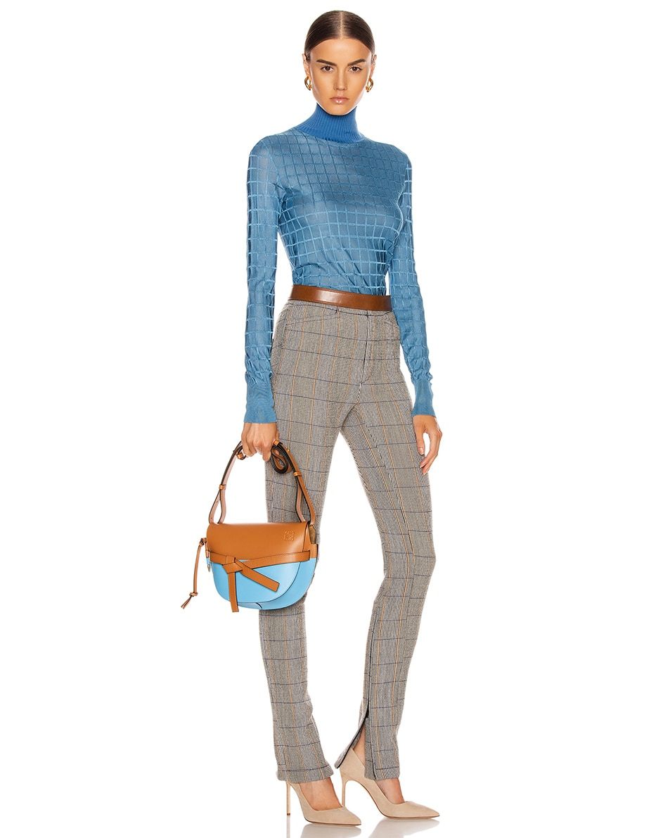 Image 2 of Loewe Gate Small Bag in Tan & Sky Blue