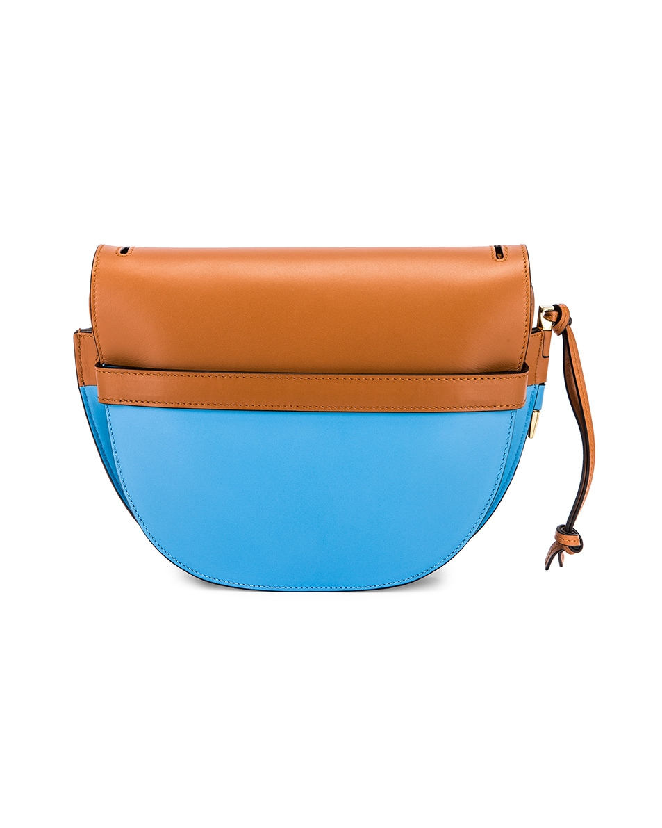 Image 3 of Loewe Gate Small Bag in Tan & Sky Blue