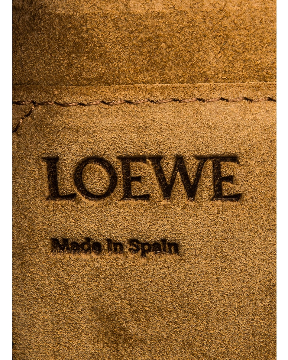Image 7 of Loewe Gate Small Bag in Tan & Sky Blue