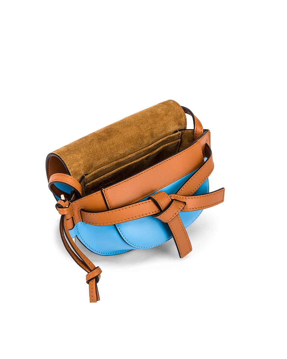 Image 4 of Loewe Gate Colour Block Bag in Tan & Sky Blue