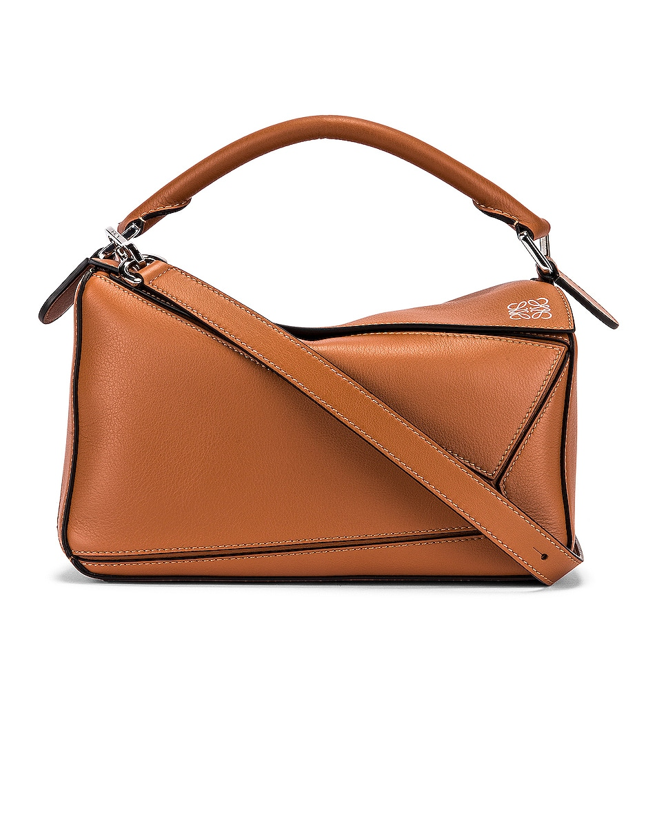Image 1 of Loewe Puzzle Small Bag in Tan