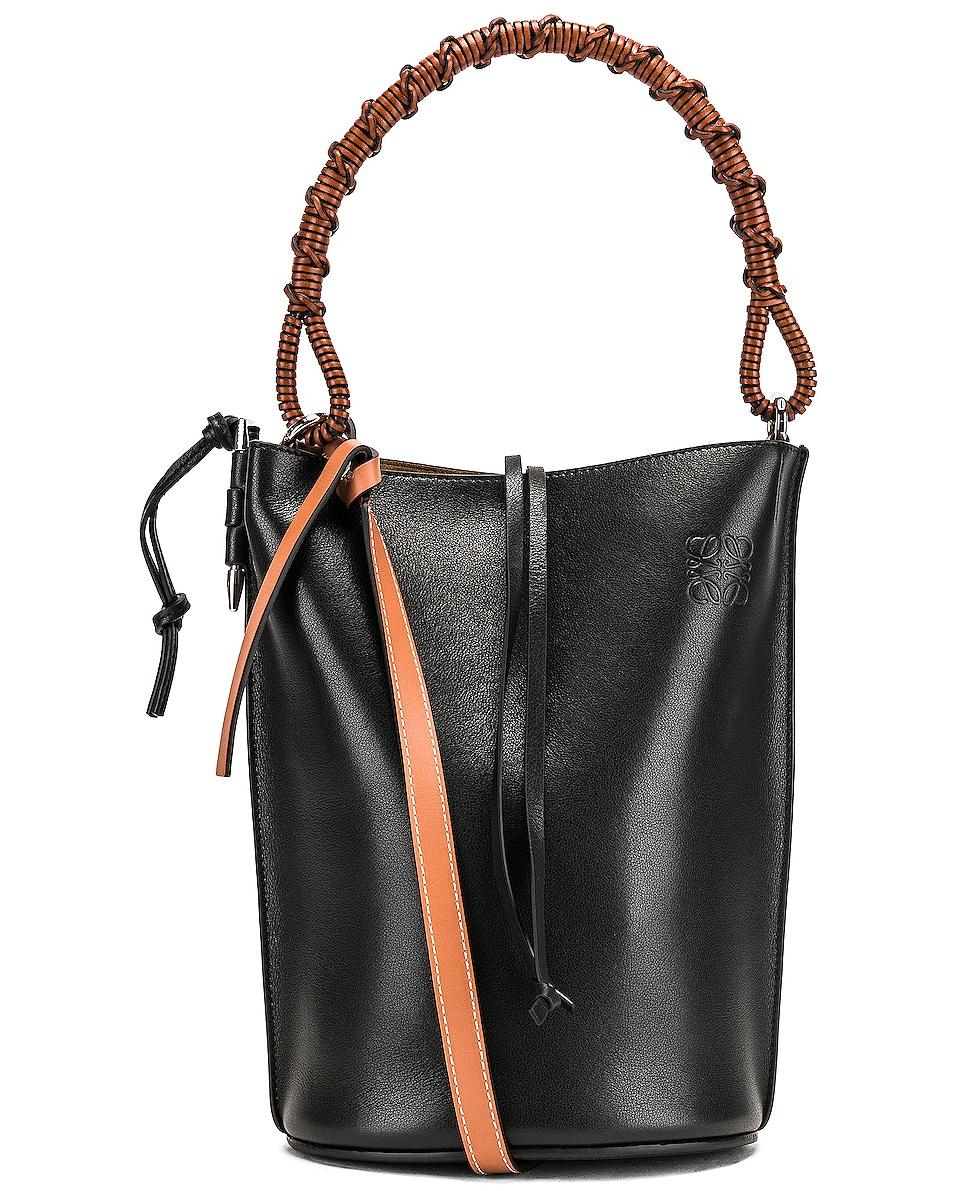 Image 1 of Loewe Gate Bucket Handle Bag in Black