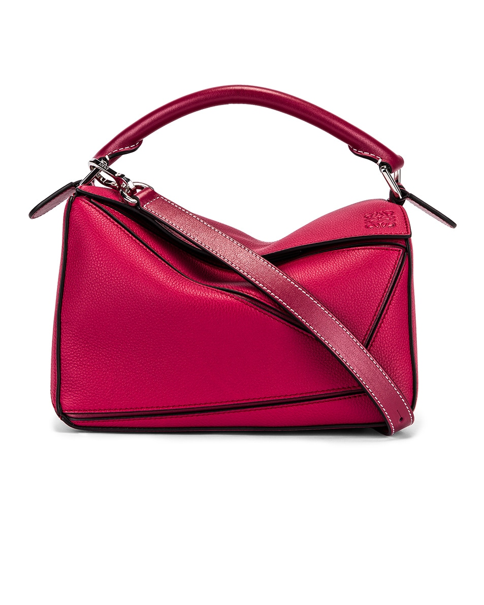 Image 1 of Loewe Puzzle Small Bag in Raspberry