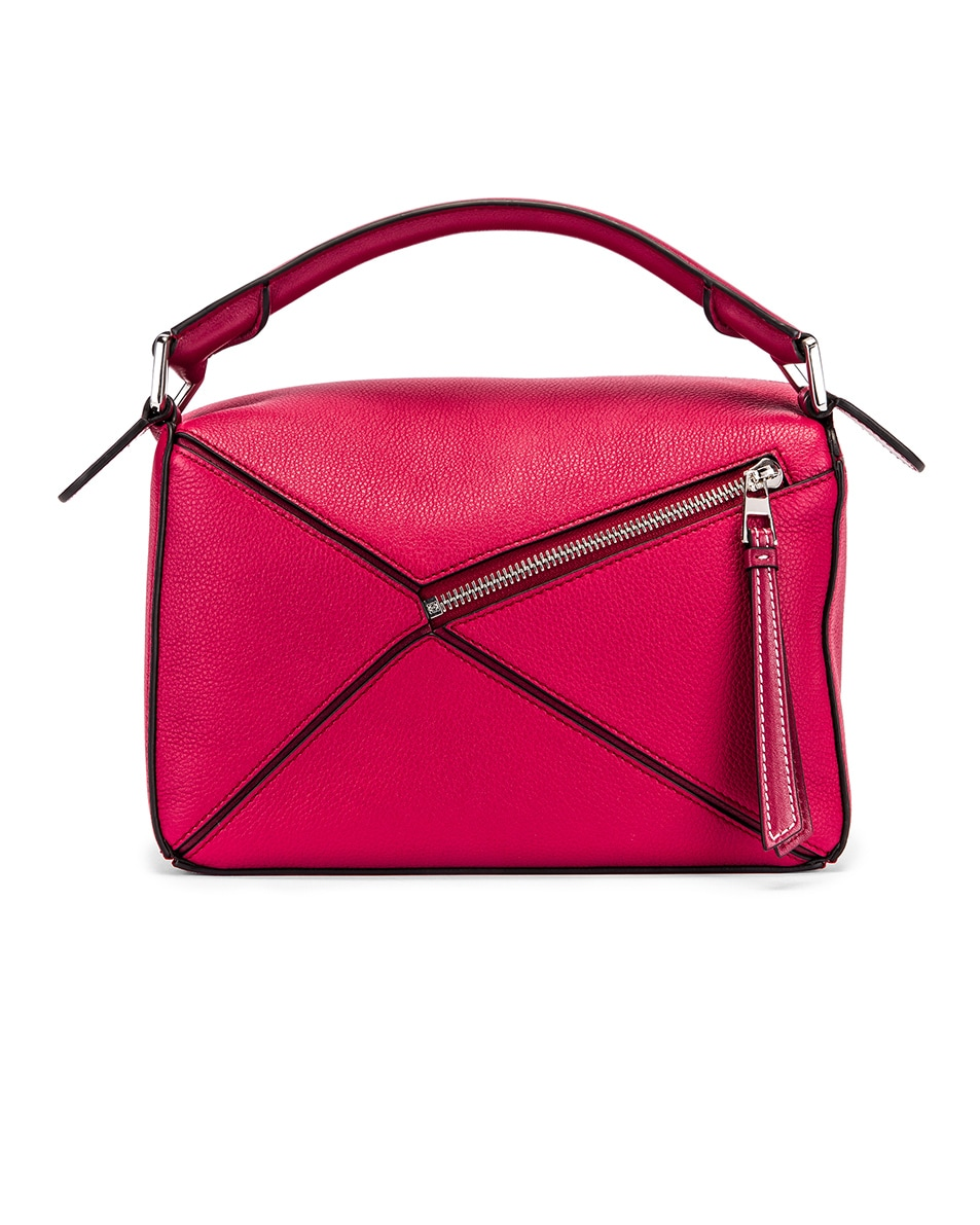 Image 3 of Loewe Puzzle Small Bag in Raspberry