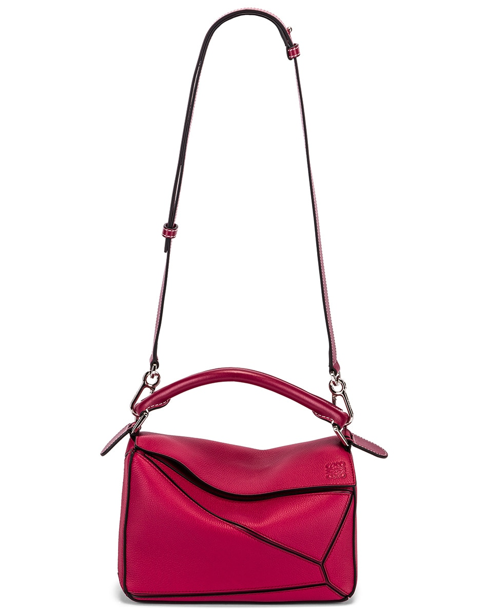 Image 6 of Loewe Puzzle Small Bag in Raspberry