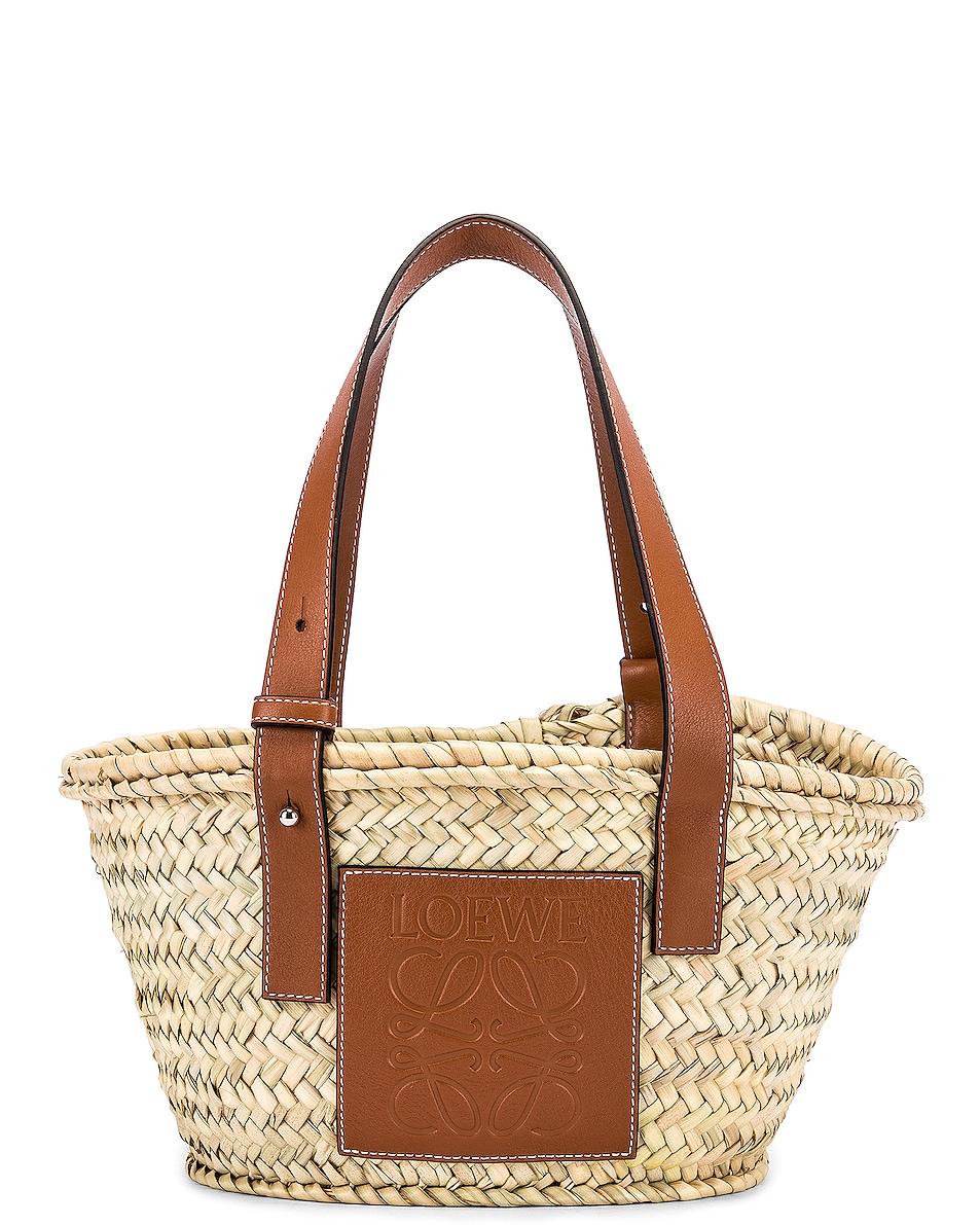 Image 1 of Loewe Basket Small Bag in Natural & Tan
