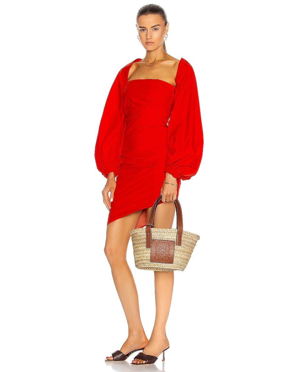 Image 2 of Loewe Basket Small Bag in Natural & Tan