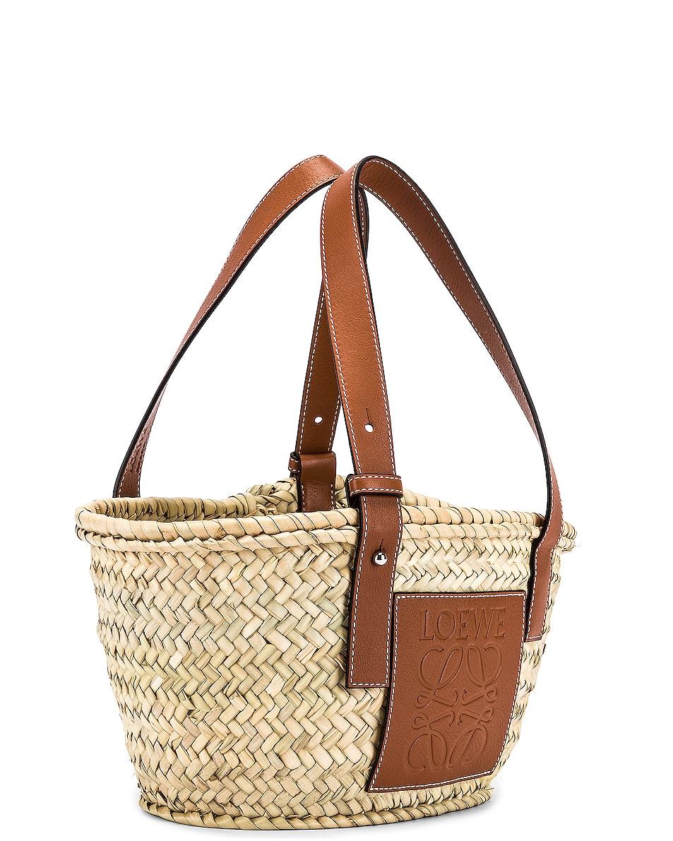 Image 4 of Loewe Basket Small Bag in Natural & Tan