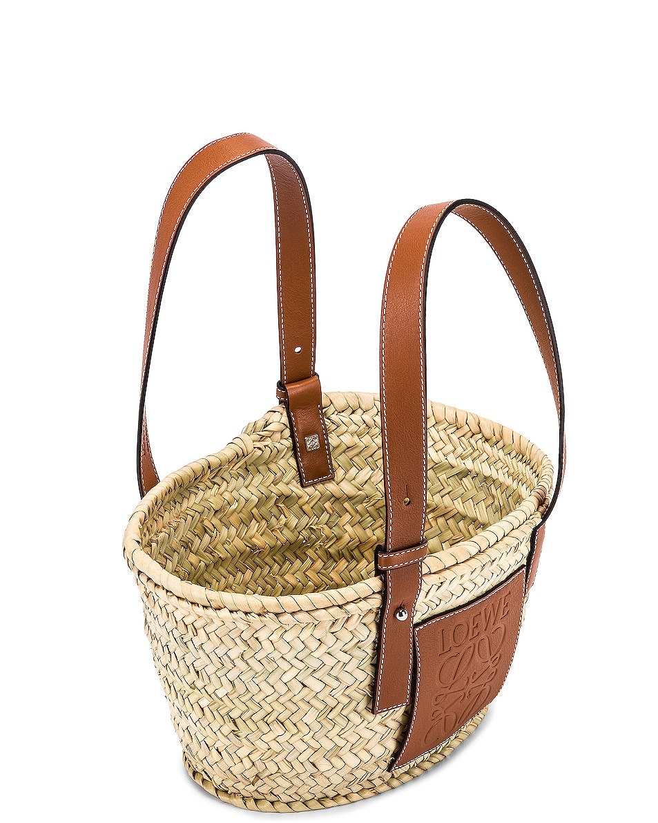 Image 5 of Loewe Basket Small Bag in Natural & Tan