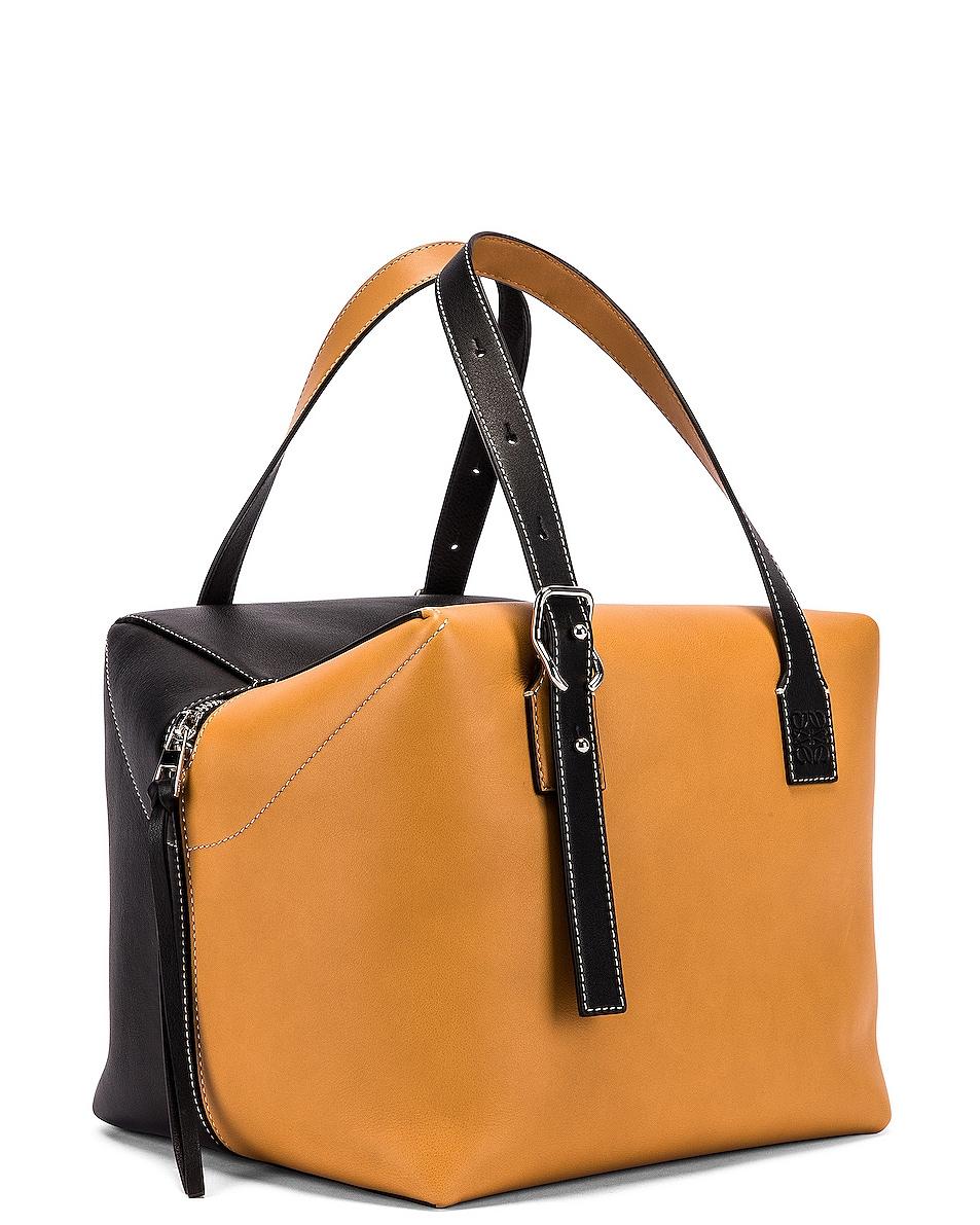 Image 4 of Loewe Cube Bag in Light Caramel & Black