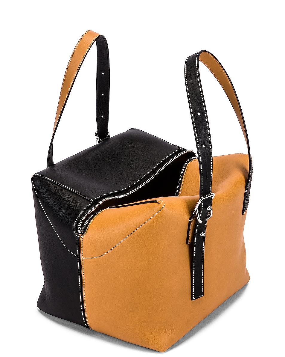 Image 5 of Loewe Cube Bag in Light Caramel & Black