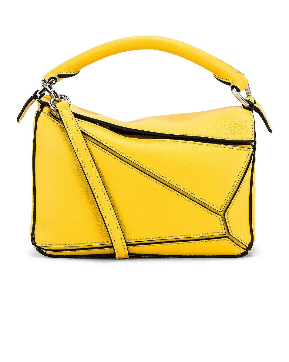 Image 1 of Loewe Puzzle Mini Bag in Yellow