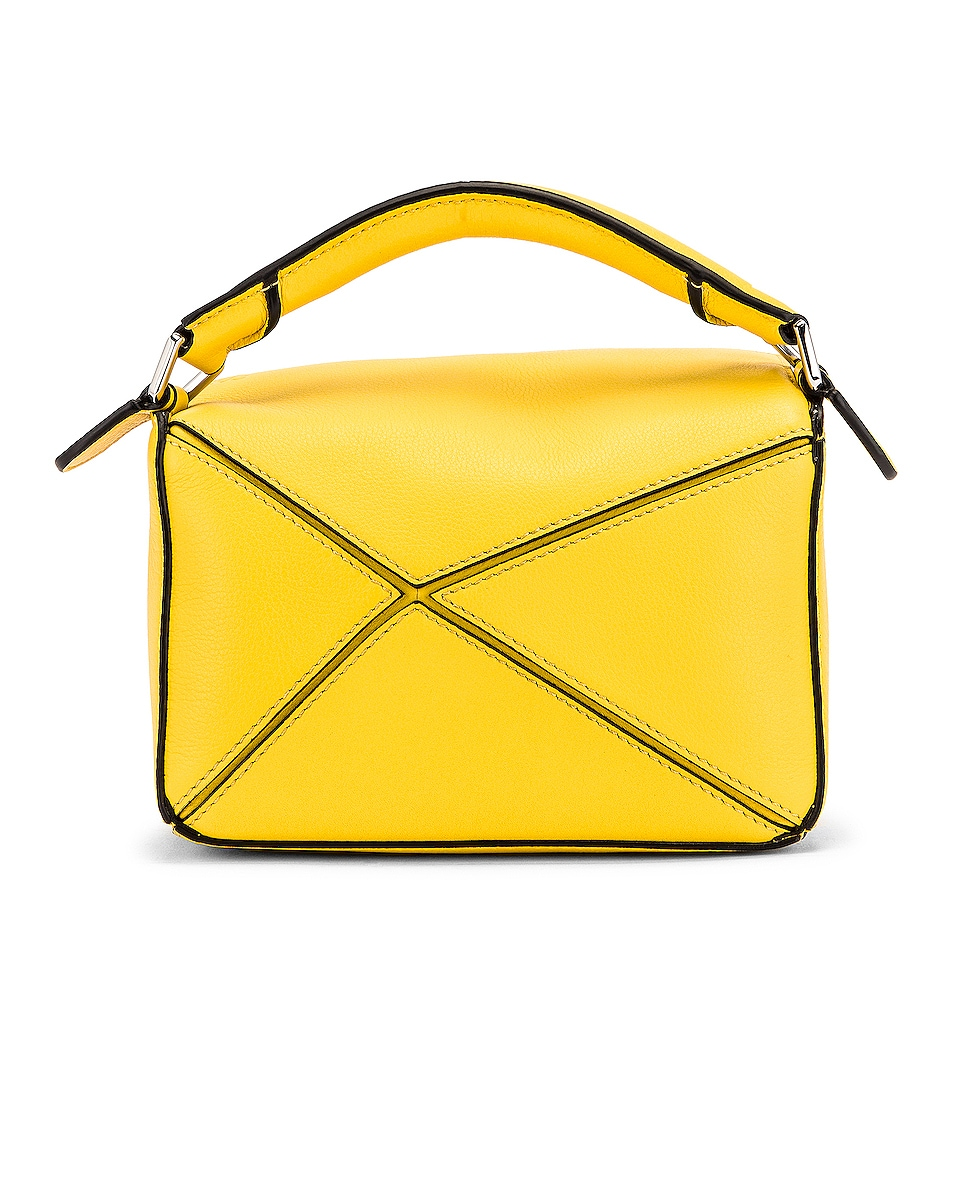 Image 3 of Loewe Puzzle Mini Bag in Yellow