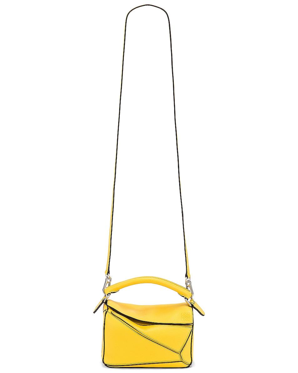 Image 6 of Loewe Puzzle Mini Bag in Yellow